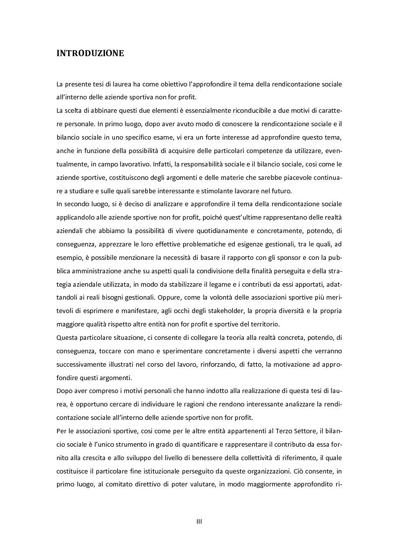 Il bilancio sociale come strumento a supporto delle strategie di sviluppo delle aziende sportive non for profit - Tesi d...