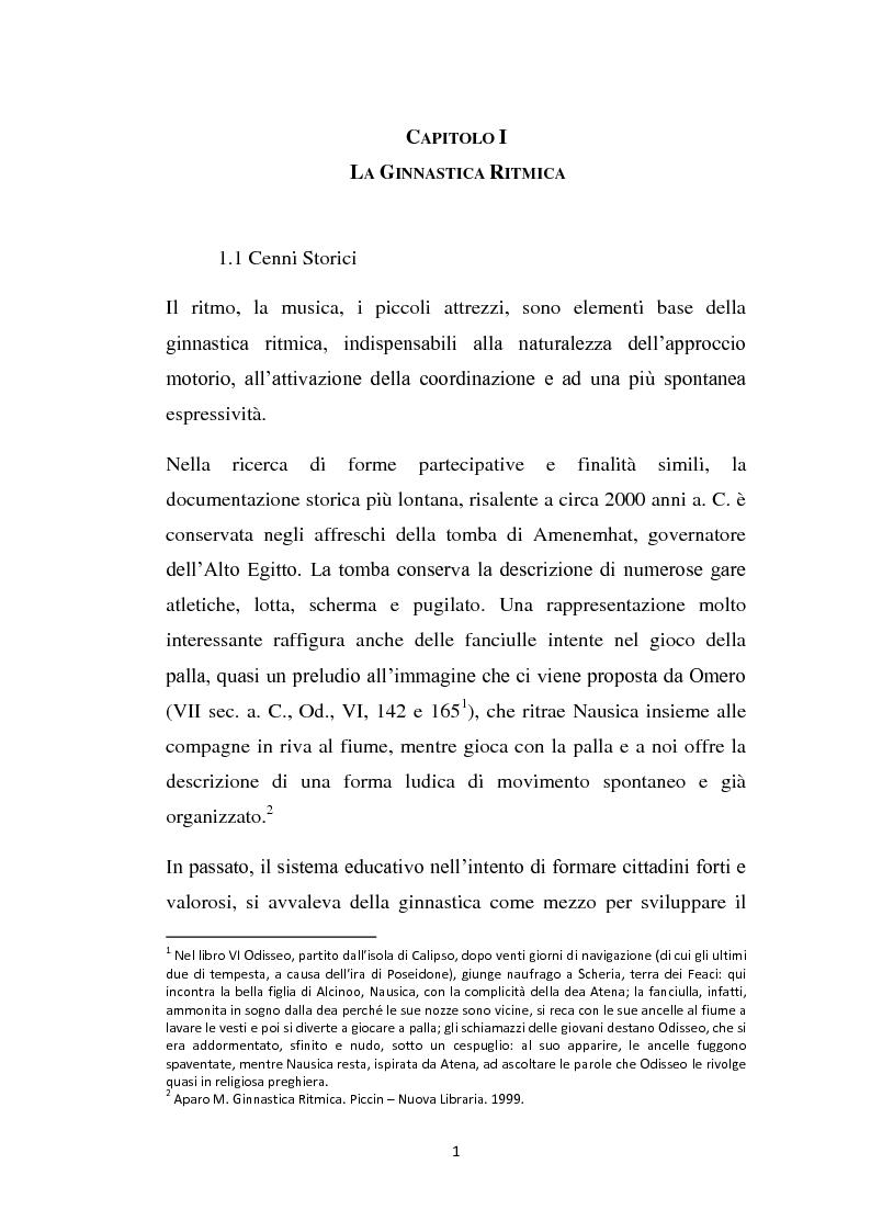 Rilevanze medico legali delle tecniche di allenamento in ginnastica ritmica - Tesi di Laurea