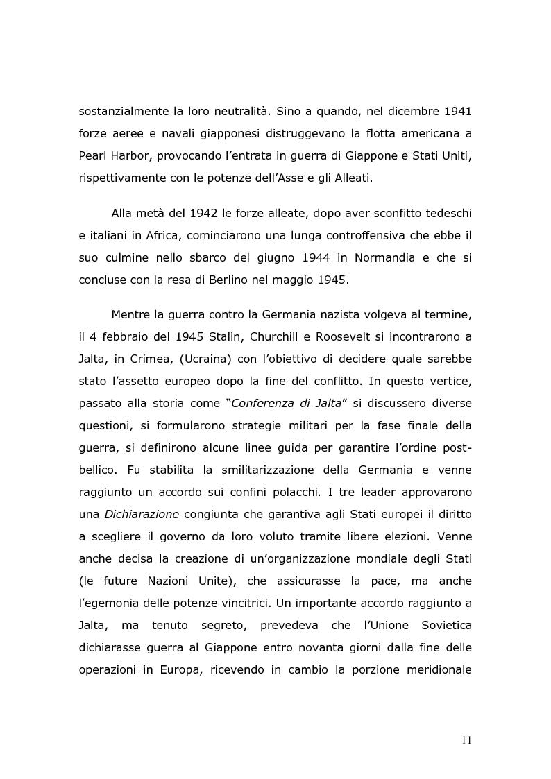 Anteprima della tesi: Il trattato di pace di Parigi che pone fine al secondo conflitto mondiale risvolti per la Sicilia: L'art. 16, Pagina 10