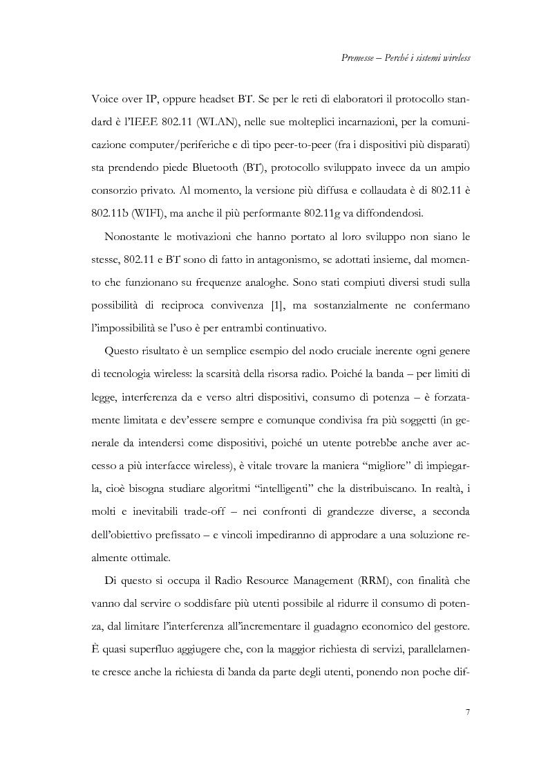 Anteprima della tesi: Allocazione delle risorse in rete radiomobile di area locale, Pagina 4