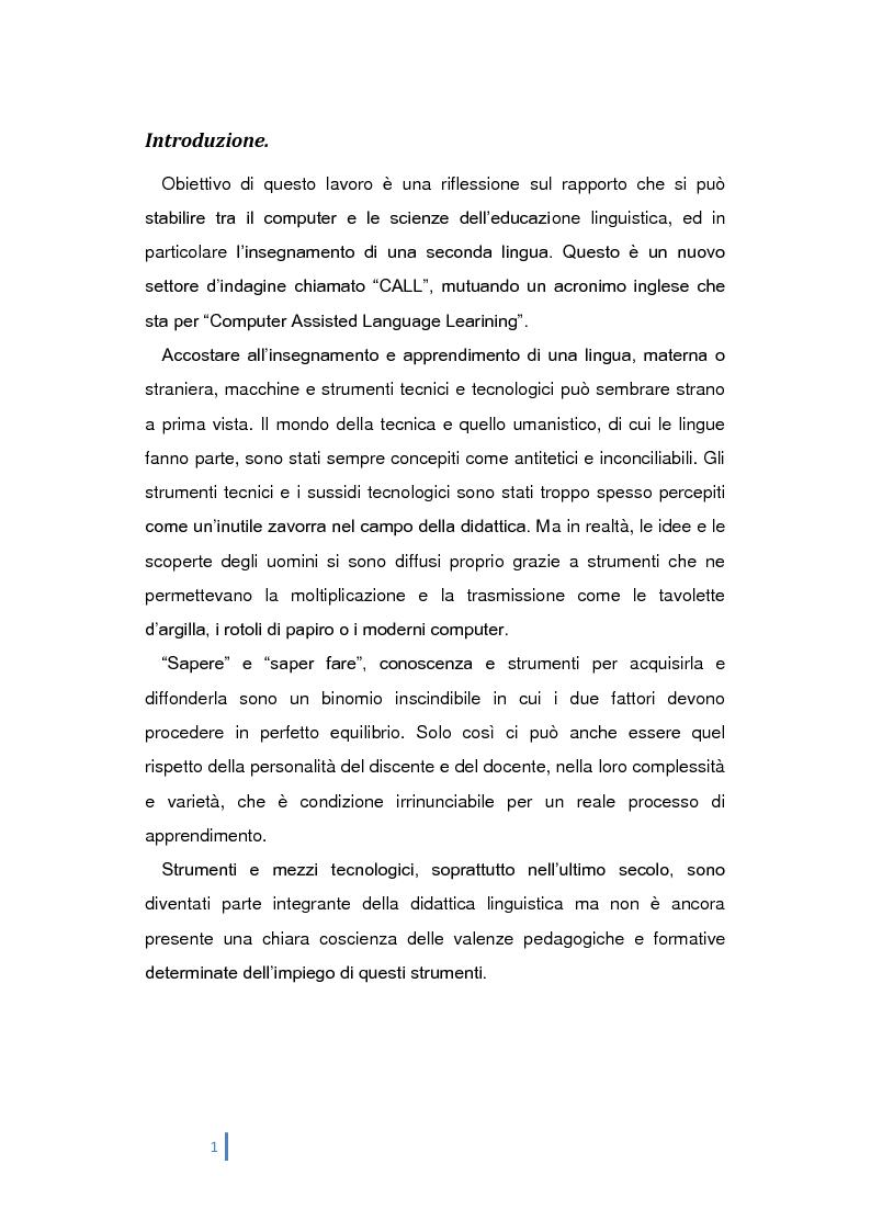 Didattica multimediale e insegnamento delle lingue - Tesi di Laurea