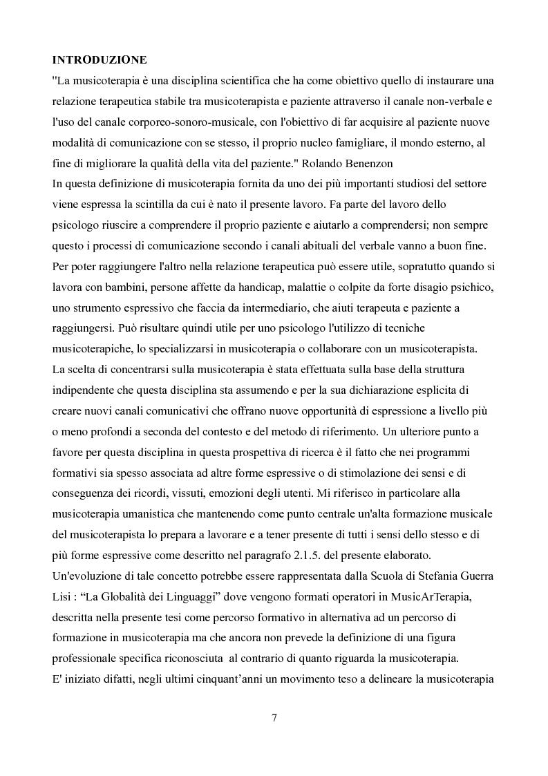 La formazione in musicoterapia. Validazione di uno strumento per la valutazione delle competenze del musicoterapista - T...