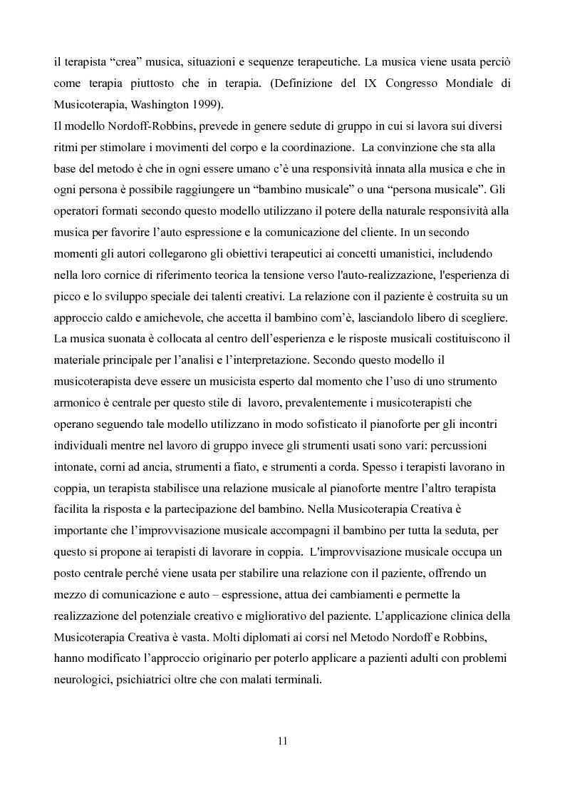 Anteprima della tesi: La formazione in musicoterapia. Validazione di uno strumento per la valutazione delle competenze del musicoterapista, Pagina 6
