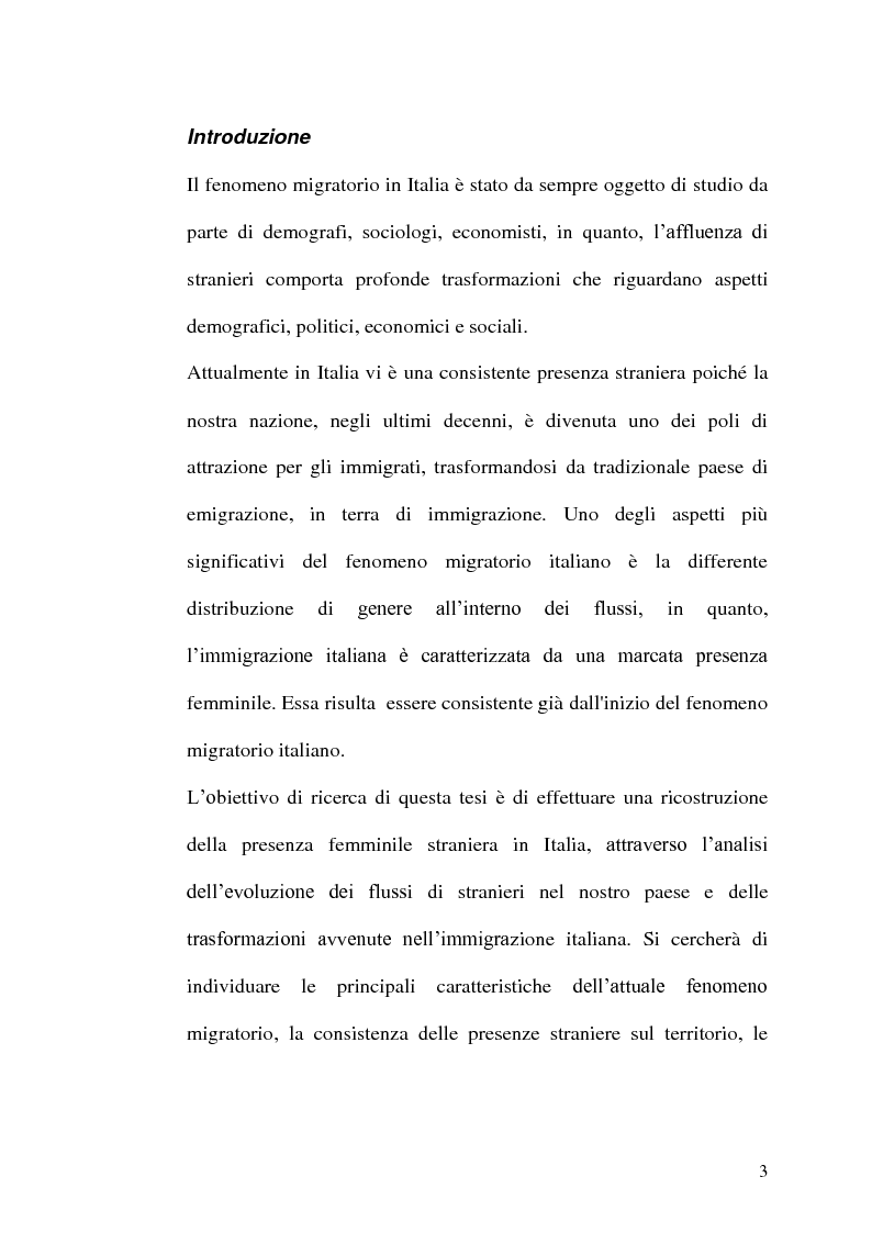 Le donne immigrate nel mercato del lavoro italiano - Tesi di Laurea