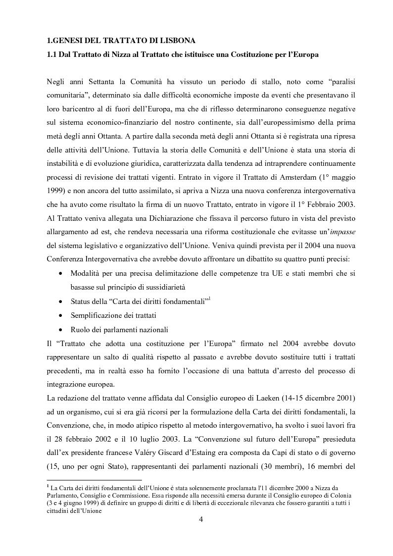 Dal Trattato che istituisce una Costituzione per l'Europa al Trattato di Lisbona: una necessaria involuzione? - Tesi di ...
