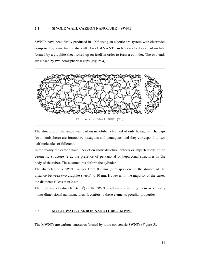 mechanical properties of carbon nanotubes thesis