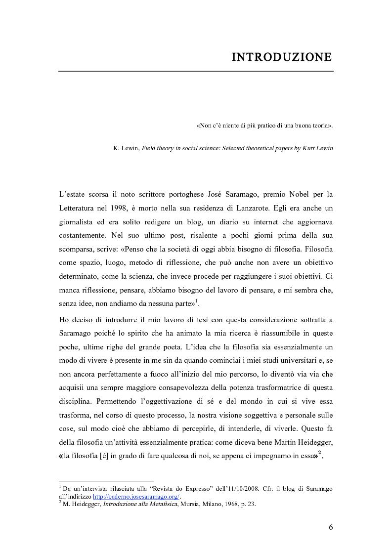 Anteprima della tesi: La consulenza filosofica. Pratiche filosofiche per le organizzazioni: origini, sviluppi, prospettive, Pagina 2