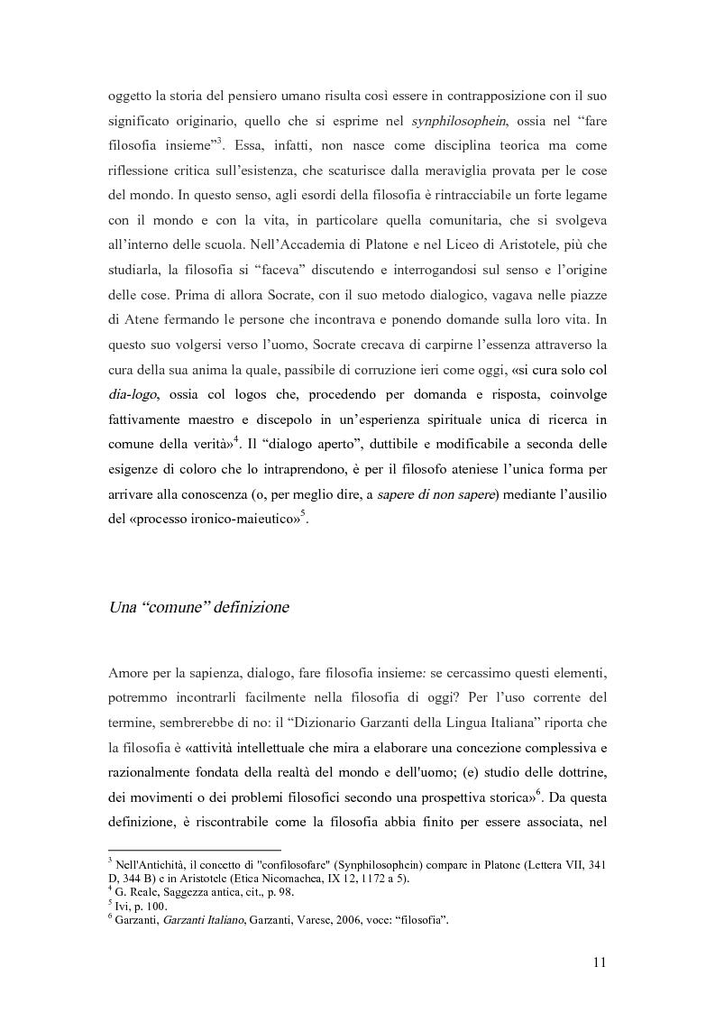 Anteprima della tesi: La consulenza filosofica. Pratiche filosofiche per le organizzazioni: origini, sviluppi, prospettive, Pagina 7
