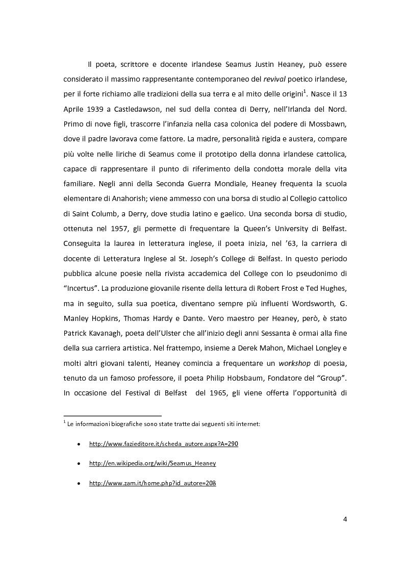 Prova di traduzione: The Spirit Level di Seamus Heaney - Tesi di Laurea