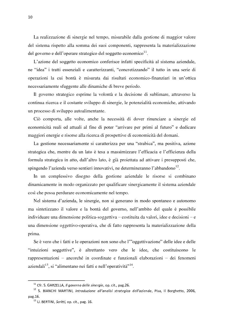 Estratto dalla tesi: IL Governo delle sinergie. Caso FIAT-CHRYSLER