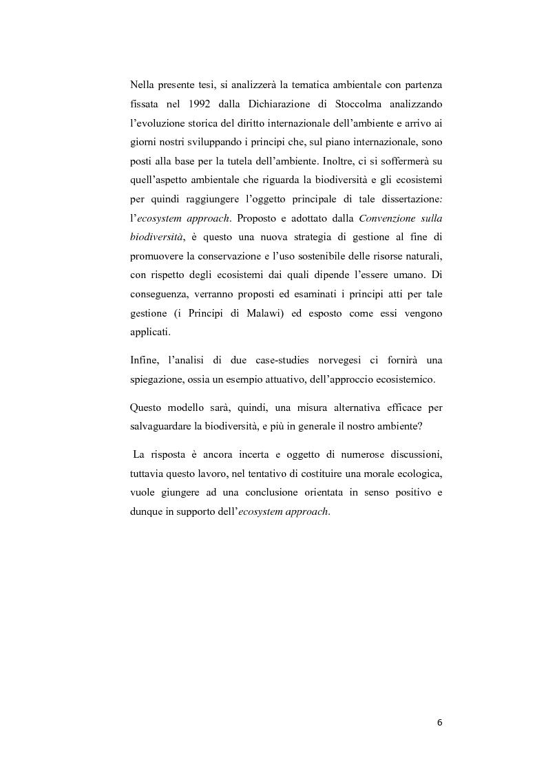Anteprima della tesi: Ecosystem approach: una nuova strategia per la salvaguardia della biodiversità, Pagina 3
