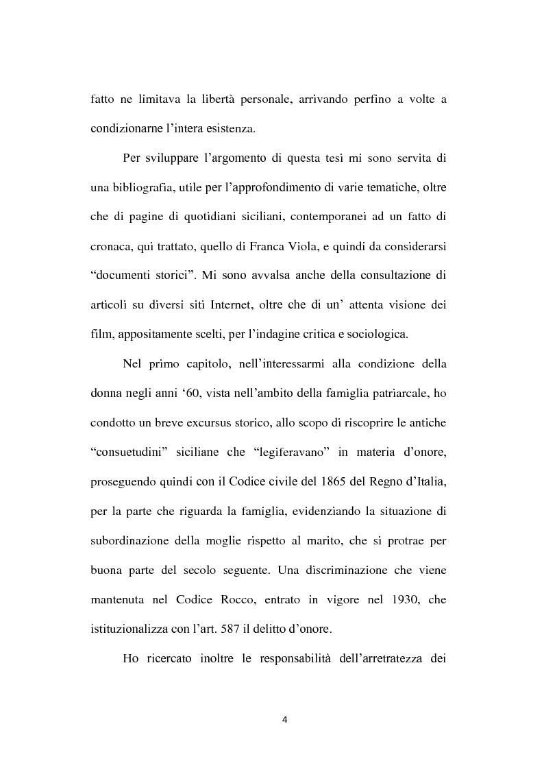 Anteprima della tesi: La condizione della donna siciliana e il cinema degli anni Sessanta, Pagina 4