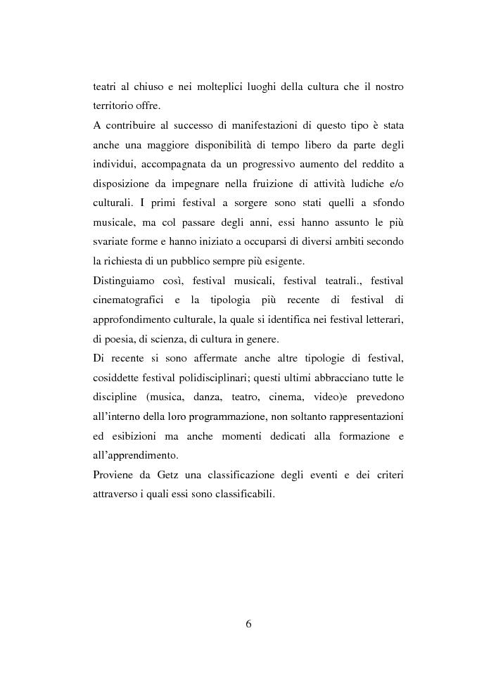 Anteprima della tesi: La valutazione di impatto socio-economico dei Festivals musicali, Pagina 5
