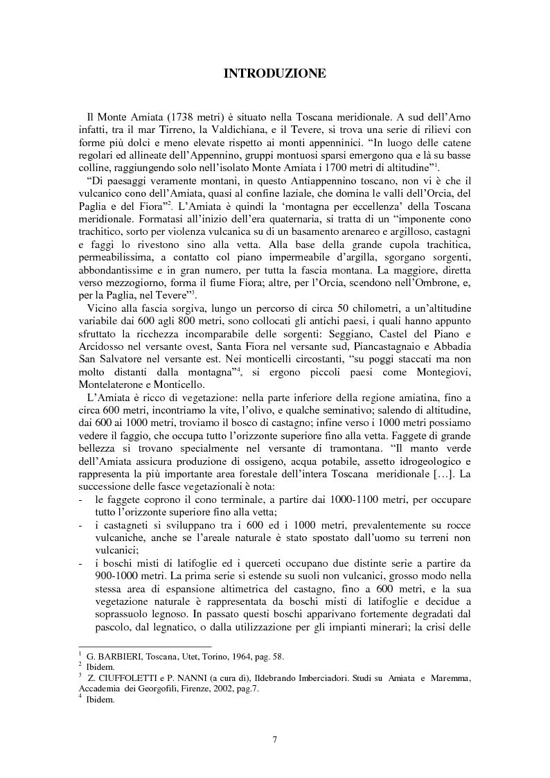 Anteprima della tesi: L'Amiata tra '600 e '800 - Una vicenda geostorica, Pagina 2