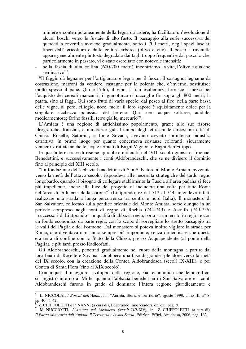 Anteprima della tesi: L'Amiata tra '600 e '800 - Una vicenda geostorica, Pagina 3