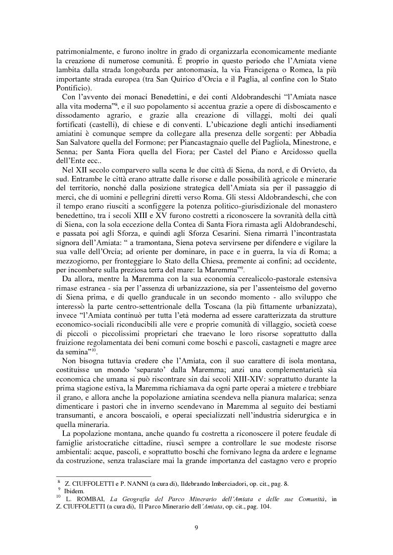 Anteprima della tesi: L'Amiata tra '600 e '800 - Una vicenda geostorica, Pagina 4