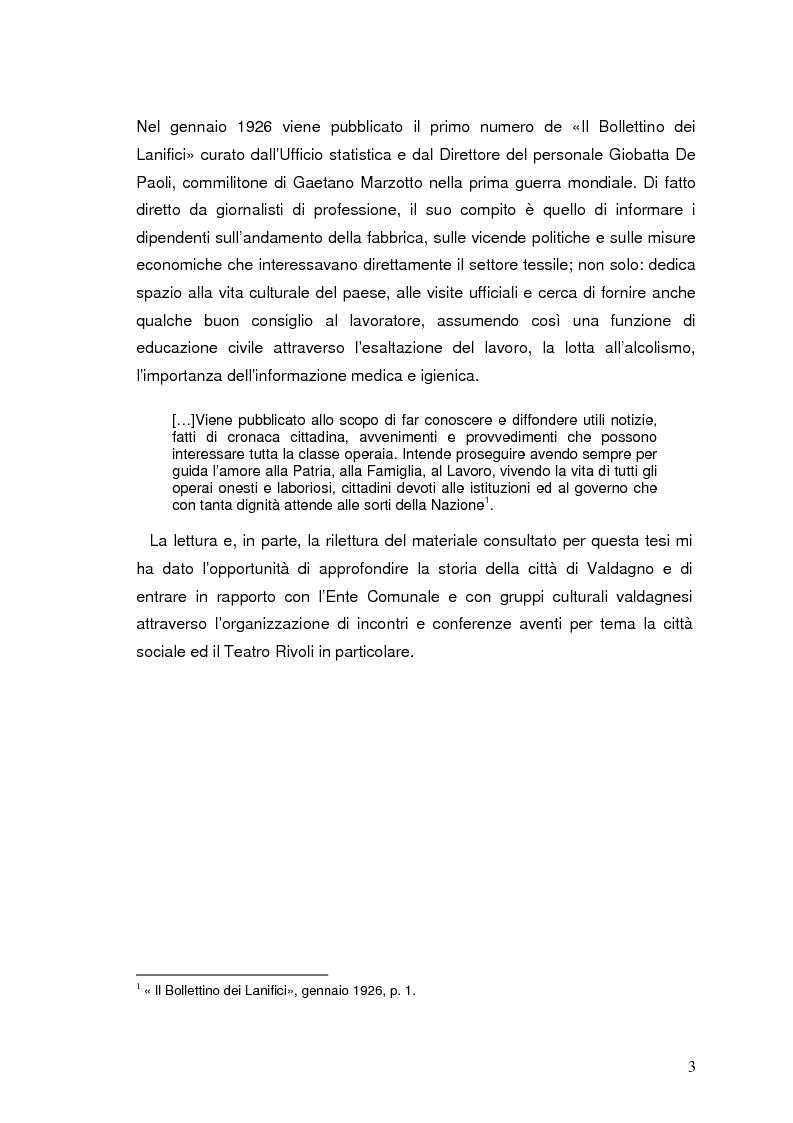 Anteprima della tesi: Storia e documentazione del Teatro Impero poi Rivoli in Valdagno (1937-1981), Pagina 3