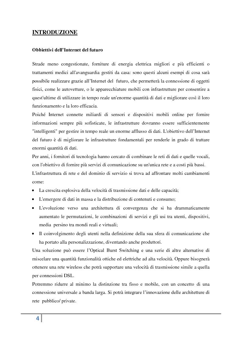 Anteprima della tesi: Evoluzione verso l'Internet del futuro, Pagina 2