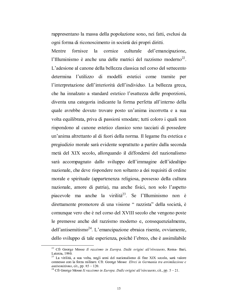Anteprima della tesi: Ebraismi dell'Europa centrale: emancipazione politica e simbiosi intellettuale, Pagina 14
