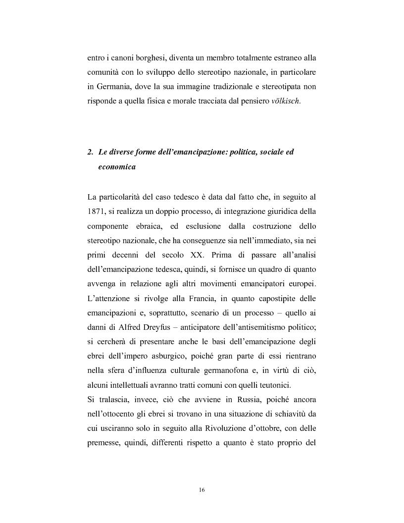 Anteprima della tesi: Ebraismi dell'Europa centrale: emancipazione politica e simbiosi intellettuale, Pagina 15