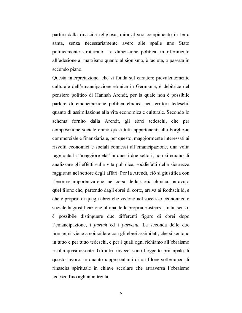 Anteprima della tesi: Ebraismi dell'Europa centrale: emancipazione politica e simbiosi intellettuale, Pagina 5