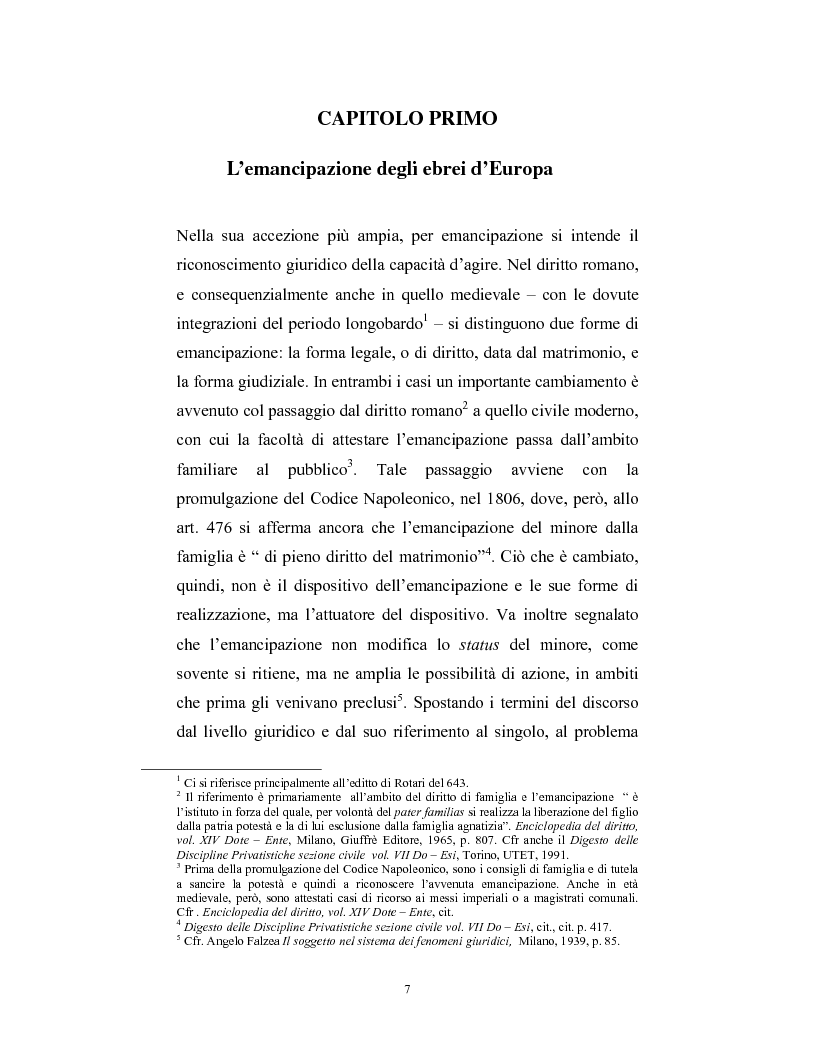 Anteprima della tesi: Ebraismi dell'Europa centrale: emancipazione politica e simbiosi intellettuale, Pagina 6