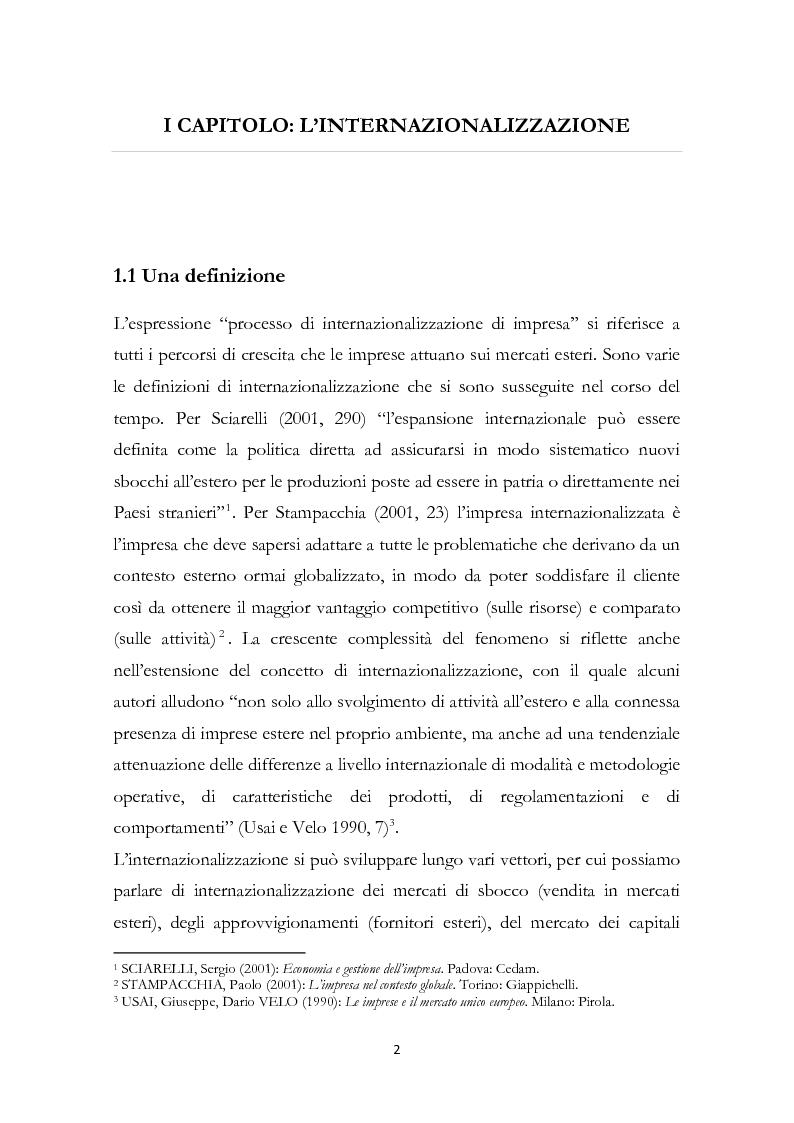Anteprima della tesi: L'internazionalizzazione delle PMI familiari: il caso MVM, Pagina 3