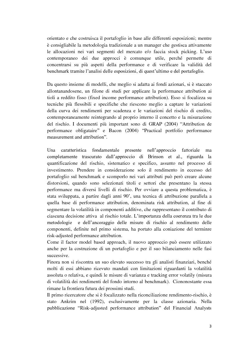 Anteprima della tesi: Analisi di performance attribution, Pagina 4