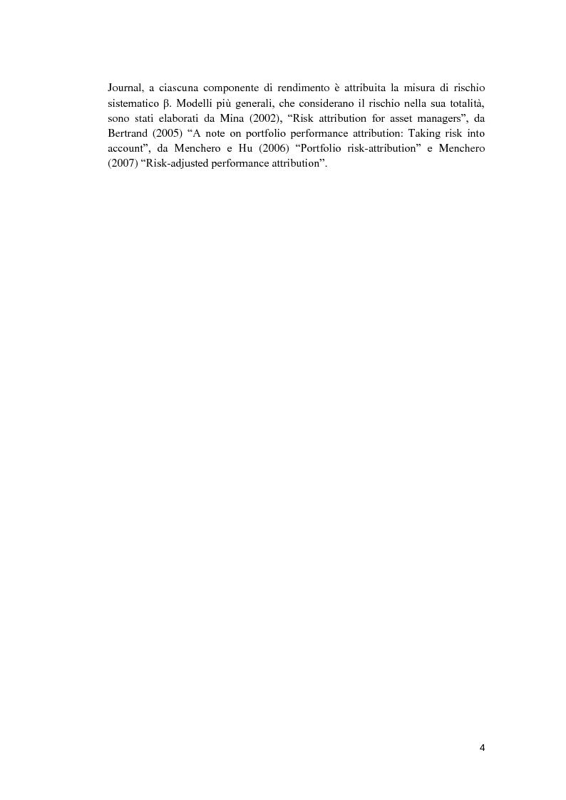 Anteprima della tesi: Analisi di performance attribution, Pagina 5
