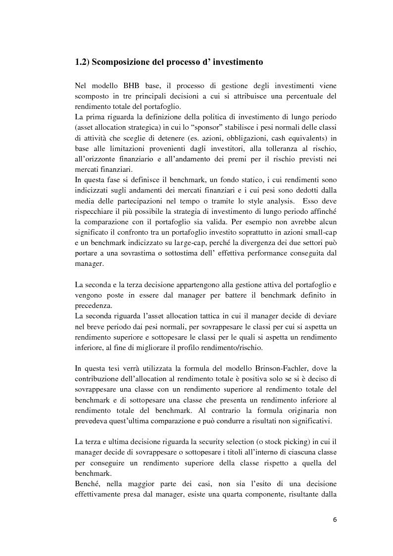 Anteprima della tesi: Analisi di performance attribution, Pagina 7