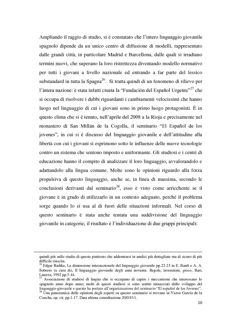 Anteprima della tesi: Gli strumenti espressivi dei giovani: linguaggio e musica analizzati all'interno del contesto spagnolo, Pagina 10