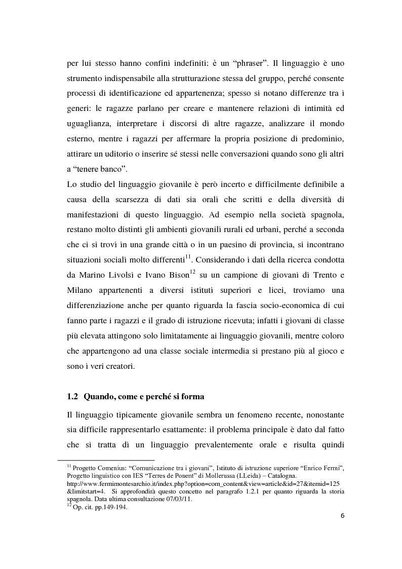 Anteprima della tesi: Gli strumenti espressivi dei giovani: linguaggio e musica analizzati all'interno del contesto spagnolo, Pagina 6