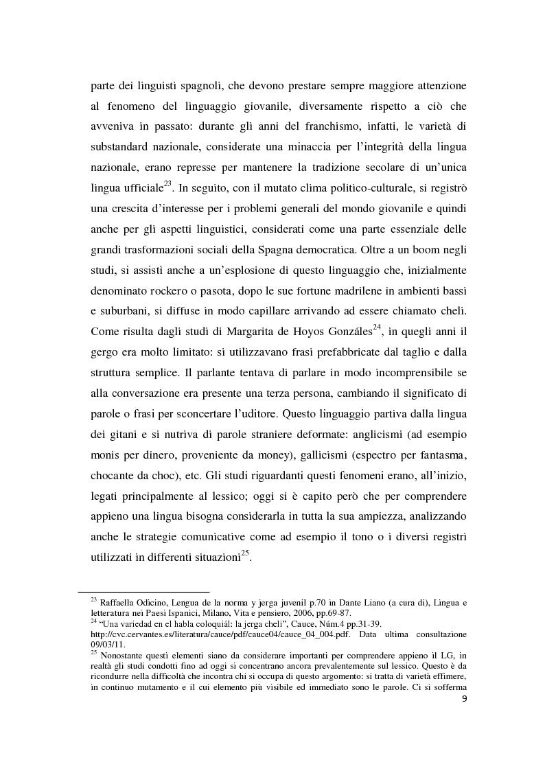 Anteprima della tesi: Gli strumenti espressivi dei giovani: linguaggio e musica analizzati all'interno del contesto spagnolo, Pagina 9