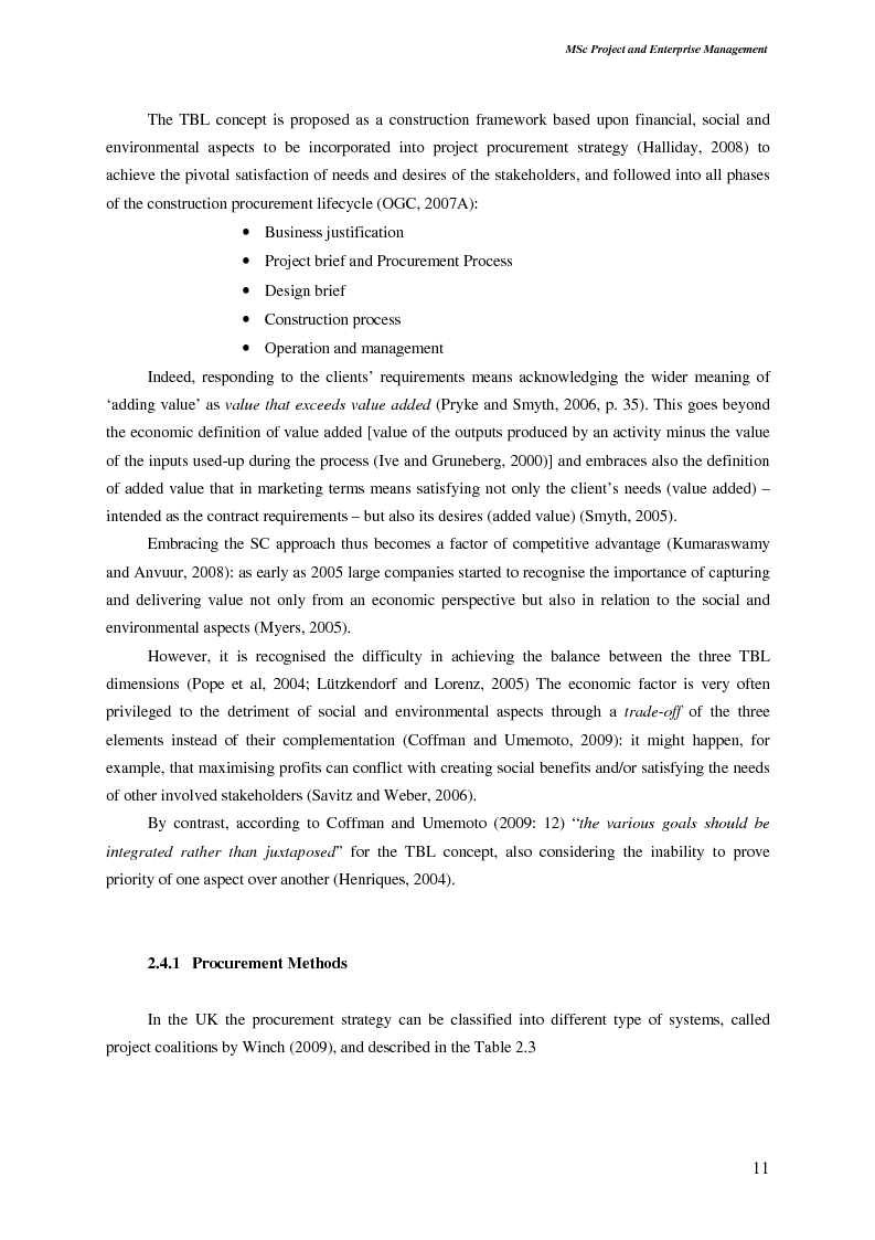 Anteprima della tesi: Sustainable Development: Application and Implications in The Construction Procurement Process According to Contractor Organisations, Pagina 5