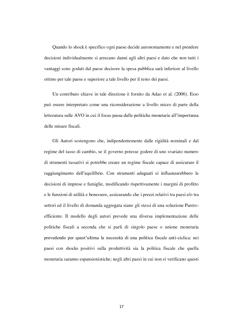 Anteprima della tesi: Costi e Benefici di una Valuta Internazionale, Pagina 13