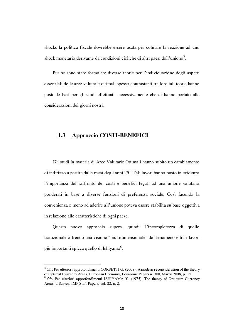 Anteprima della tesi: Costi e Benefici di una Valuta Internazionale, Pagina 14