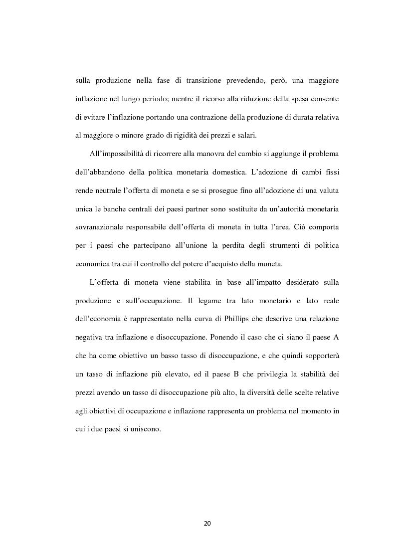 Anteprima della tesi: Costi e Benefici di una Valuta Internazionale, Pagina 16