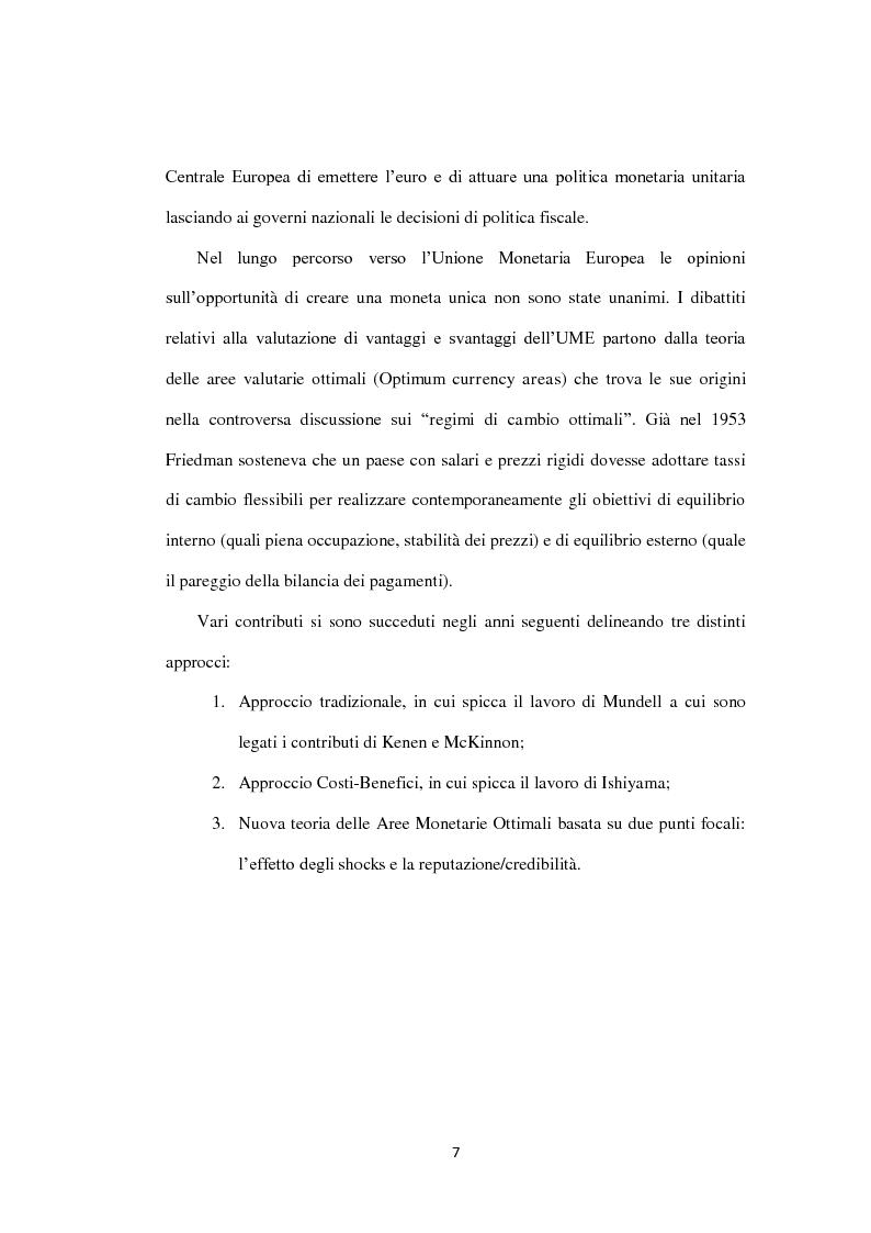 Anteprima della tesi: Costi e Benefici di una Valuta Internazionale, Pagina 3