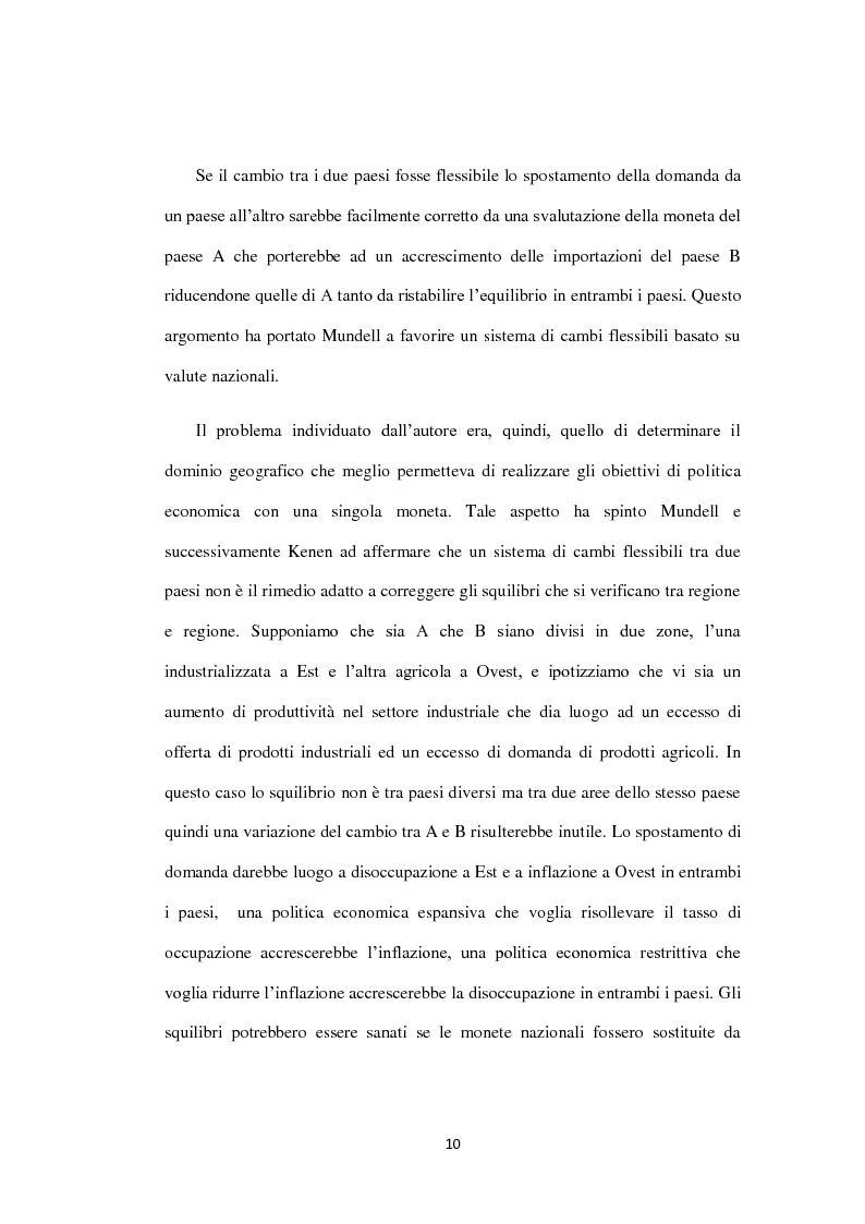 Anteprima della tesi: Costi e Benefici di una Valuta Internazionale, Pagina 6