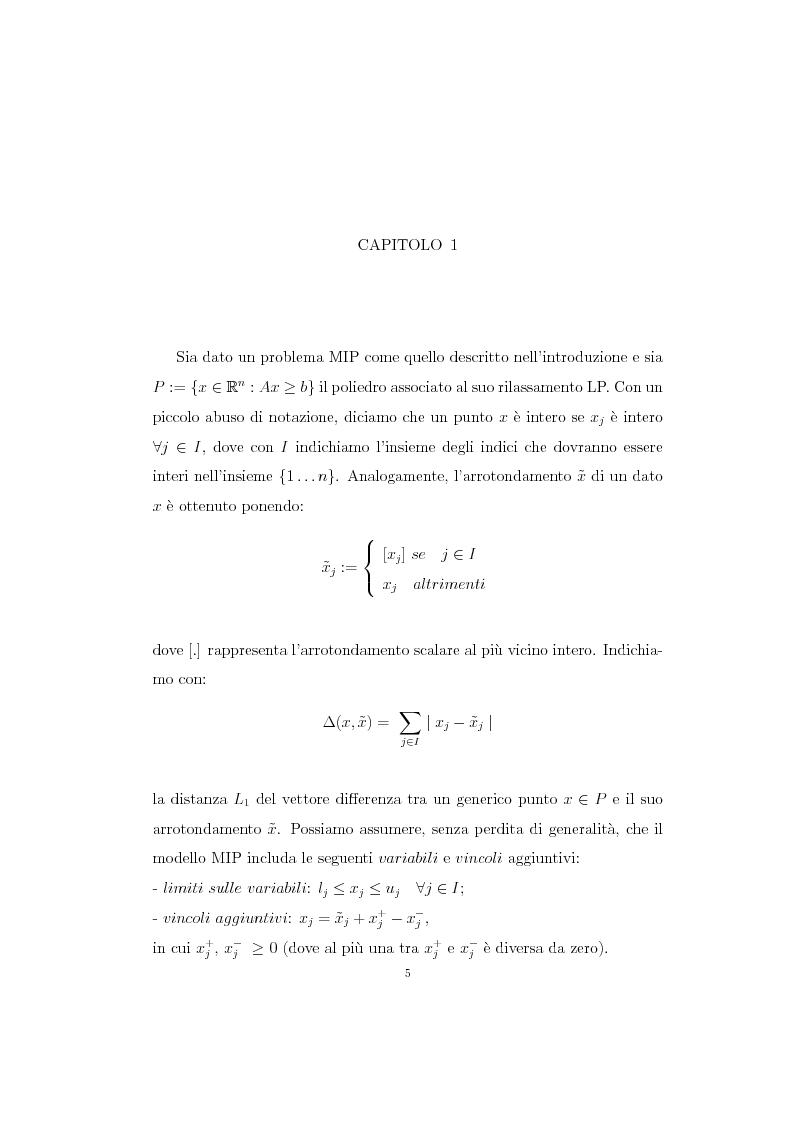 Anteprima della tesi: Il metodo ''Feasibility Pump'' per un problema MIP, Pagina 4