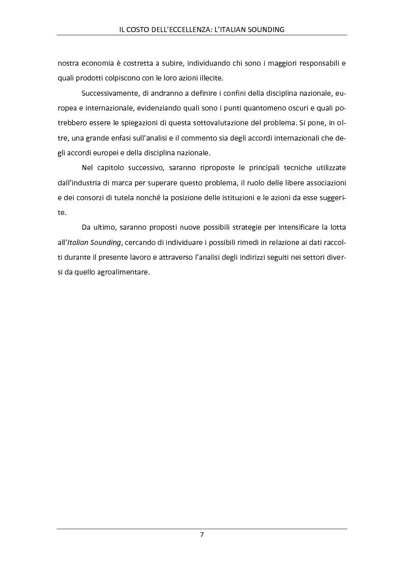 Anteprima della tesi: Il costo dell'eccellenza: l'Italian Sounding, Pagina 4