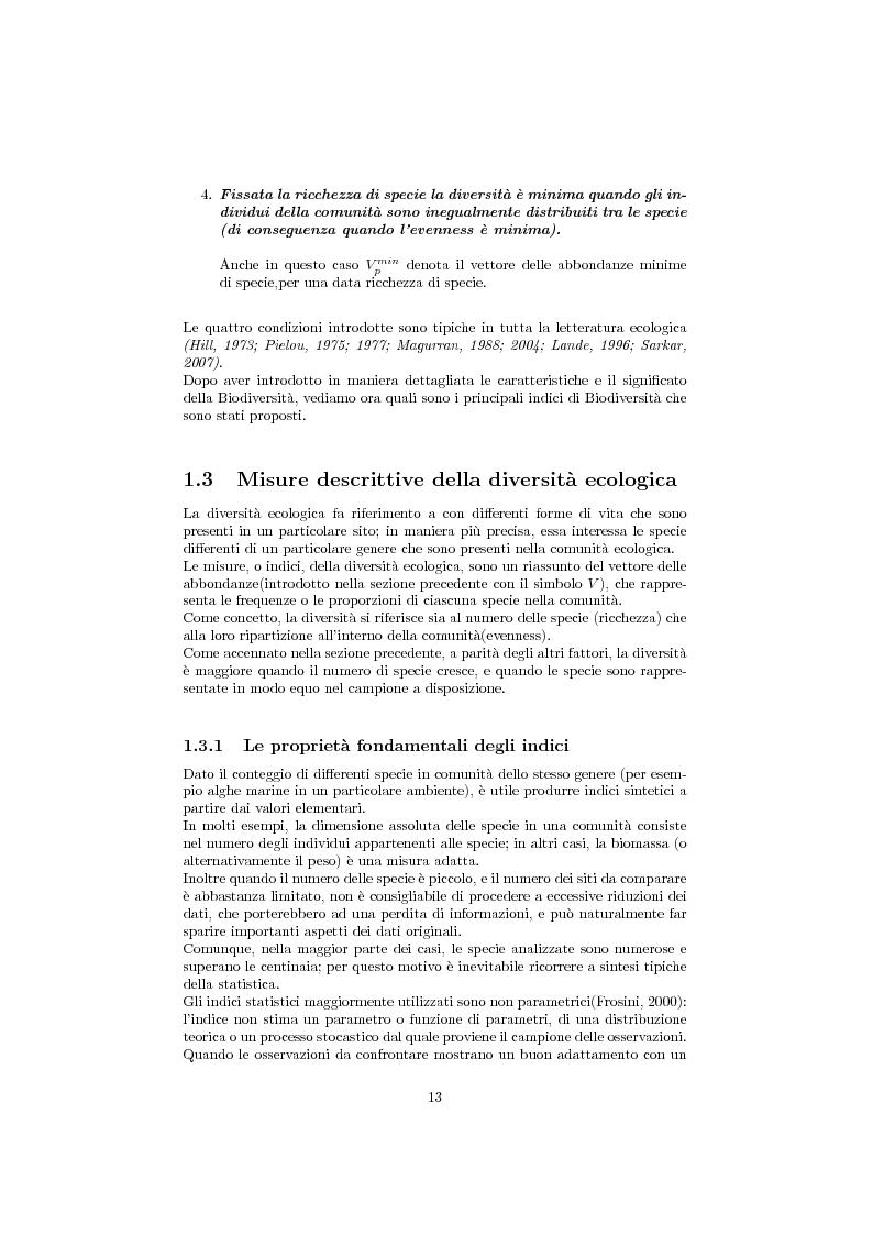 Estratto dalla tesi: Studio della biodiversità: il caso delle alghe rilevate dalla struttura oceanograca Daphne.