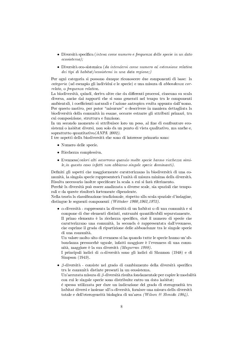 Anteprima della tesi: Studio della biodiversità: il caso delle alghe rilevate dalla struttura oceanograca Daphne., Pagina 3