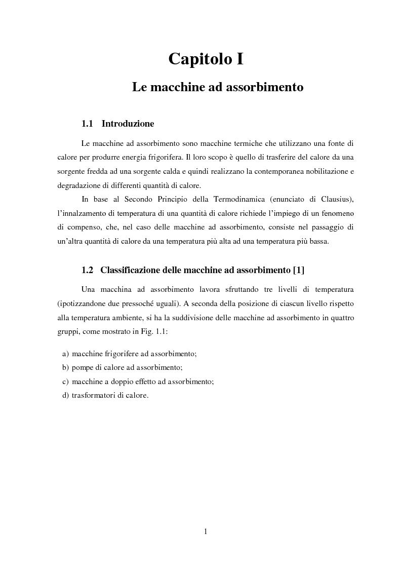 Anteprima della tesi: Messa a punto di un sistema di acquisizione dati per la valutazione delle prestazioni di una macchina ad assorbimento, Pagina 4