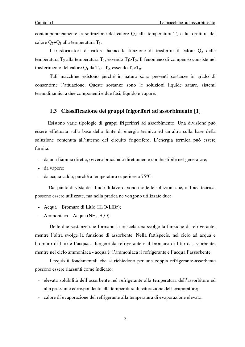 Anteprima della tesi: Messa a punto di un sistema di acquisizione dati per la valutazione delle prestazioni di una macchina ad assorbimento, Pagina 6