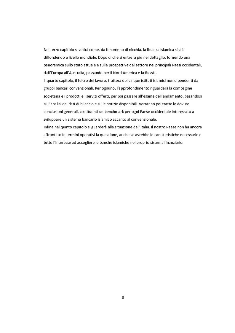Anteprima della tesi: Lo sviluppo della banca islamica nei sistemi finanziari convenzionali, Pagina 3
