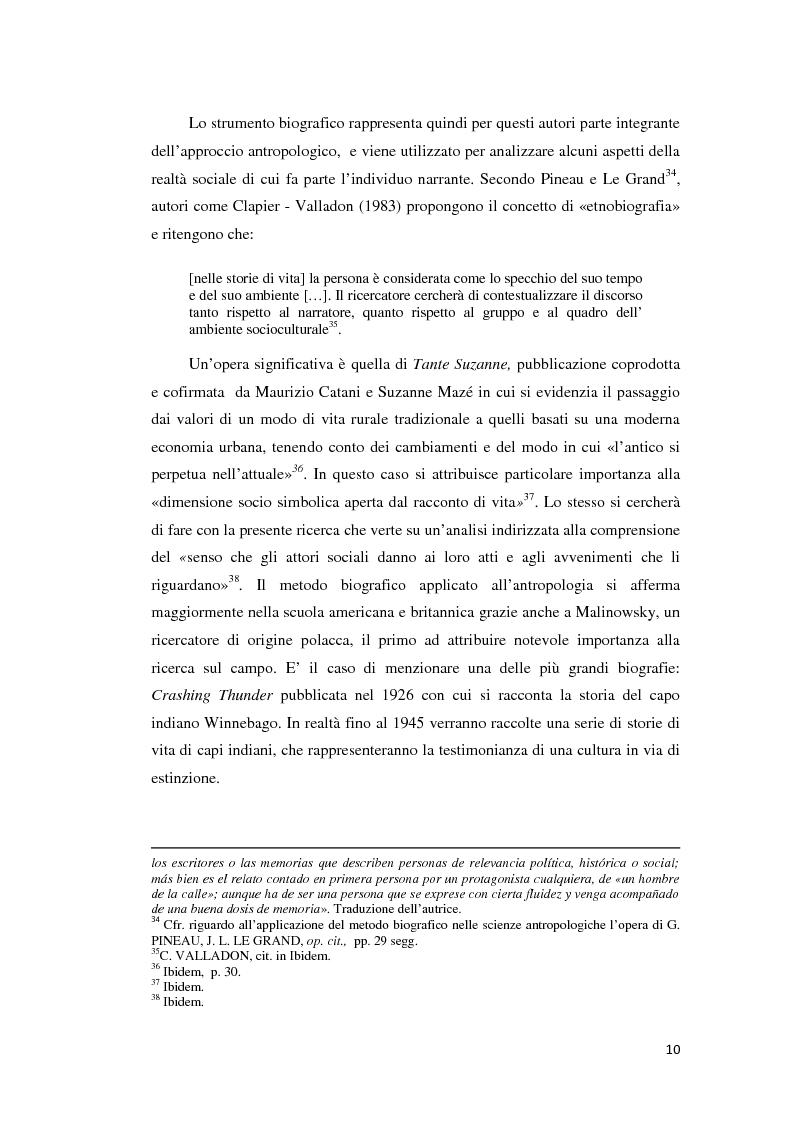 Anteprima della tesi: Gli emigranti salentini nella provincia di Buenos Aires: storie di vita e generazioni a confronto., Pagina 11