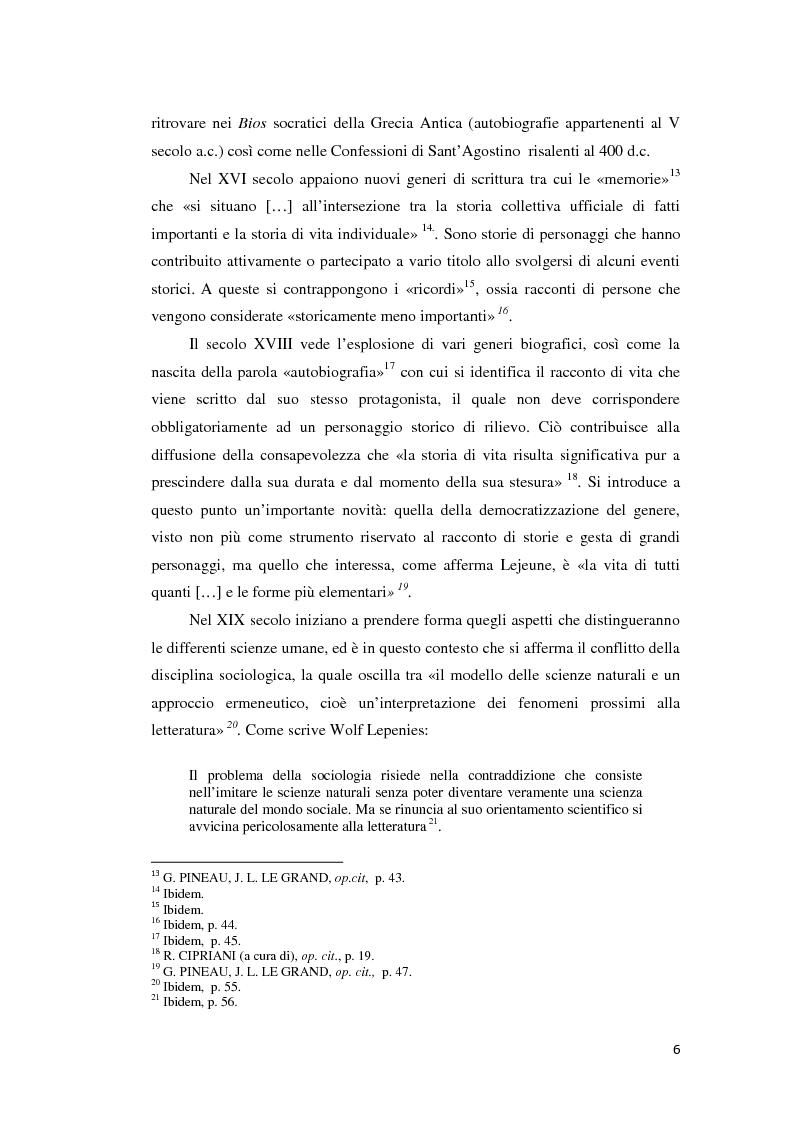 Anteprima della tesi: Gli emigranti salentini nella provincia di Buenos Aires: storie di vita e generazioni a confronto., Pagina 7