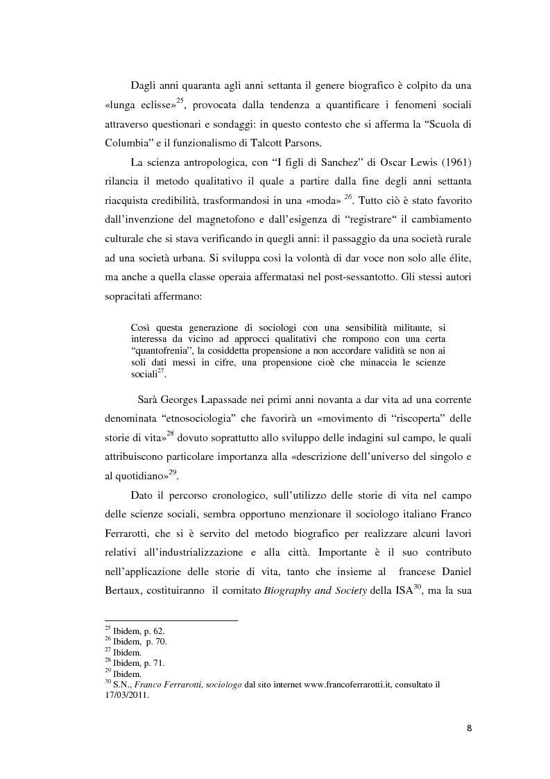 Anteprima della tesi: Gli emigranti salentini nella provincia di Buenos Aires: storie di vita e generazioni a confronto., Pagina 9