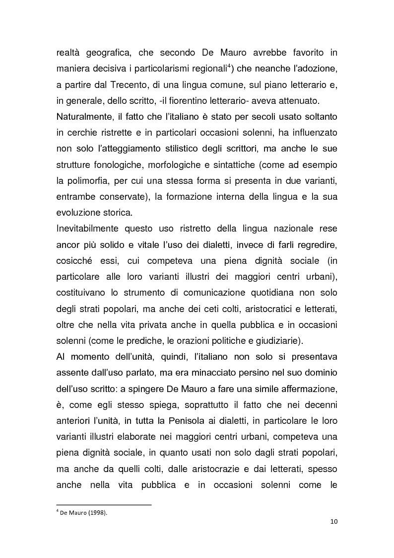 """Anteprima della tesi: Dalla pagina allo schermo: analisi linguistica de """"La romana"""" di Alberto Moravia e delle sue trasposizioni cinematografiche, Pagina 11"""